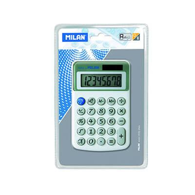 Calculadora Milan teclas de plástico 8 dígitos