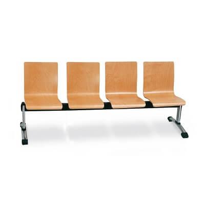 Bancada 4 plazas de madera