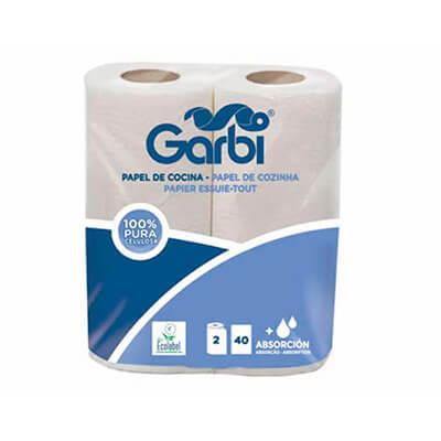 Rollo de papel celulosa tipo cocina