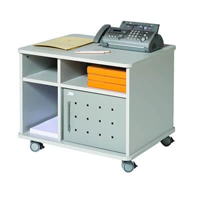 Mesa auxiliar dos niveles color gris