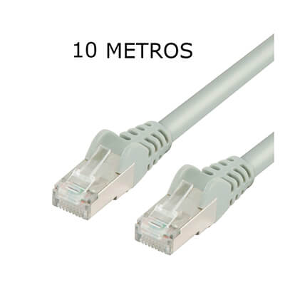 Cable de red RJ45 10 metros cat.5ftp