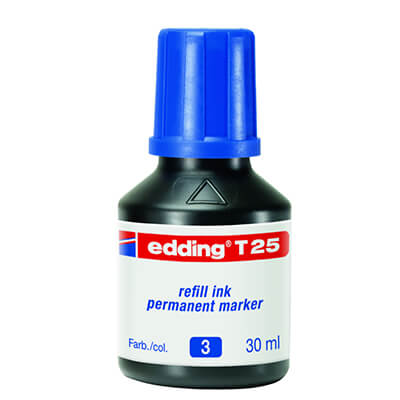 Tinta edding T25 color azul