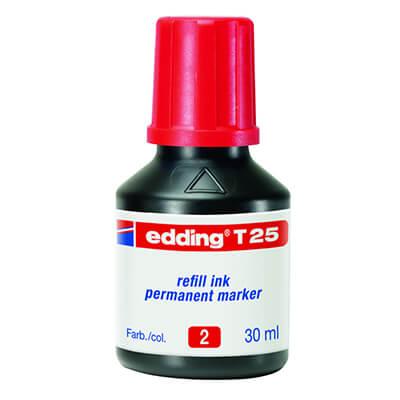 Tinta edding T25 color rojo