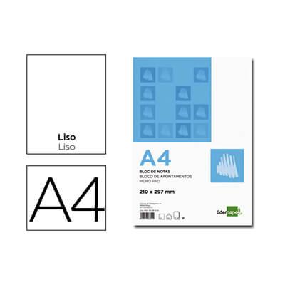 Bloc de notas A4 liso con tapa
