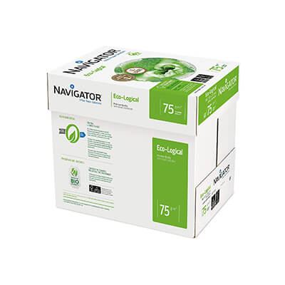 Caja papel A4 Navigator Eco-logical 75gr (2500h)