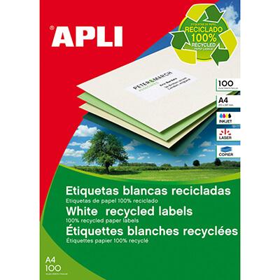 Etiquetas Apli recicladas 210x297mm