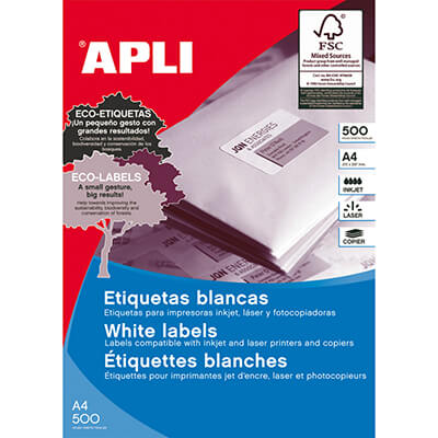 Etiquetas adhesivas A4 Apli 105x148mm(500h)
