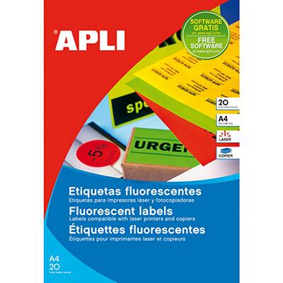 Etiquetas adhesivas 99,1x67,7 amarillo fluorescent