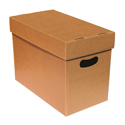 Caja embalaje A4 con tapa 350x290x240 (pack 10)