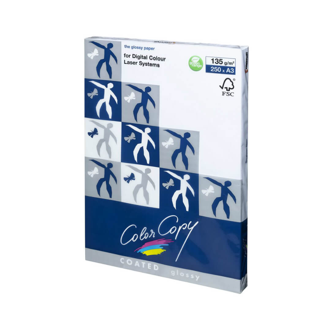 Paquete papel Color Copy Glossy A3 135gr 250h