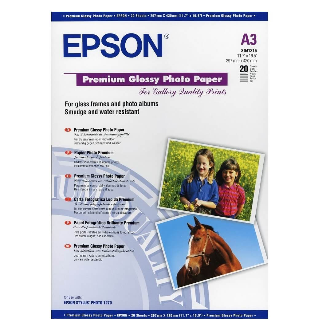 Epson premium glossy photo papel A3 (20)