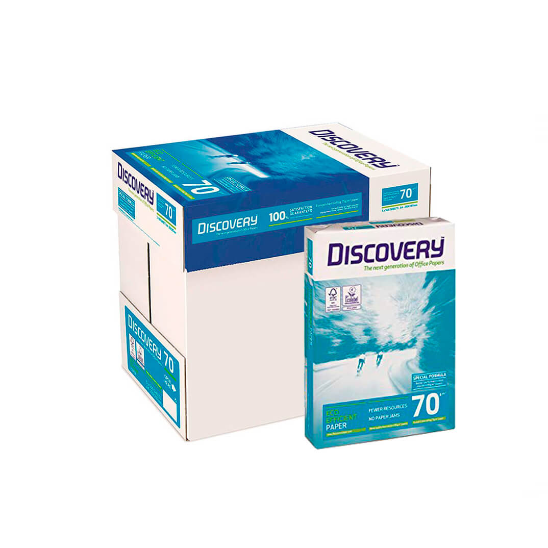 Caja papel Discovery 2500h A4 70gr