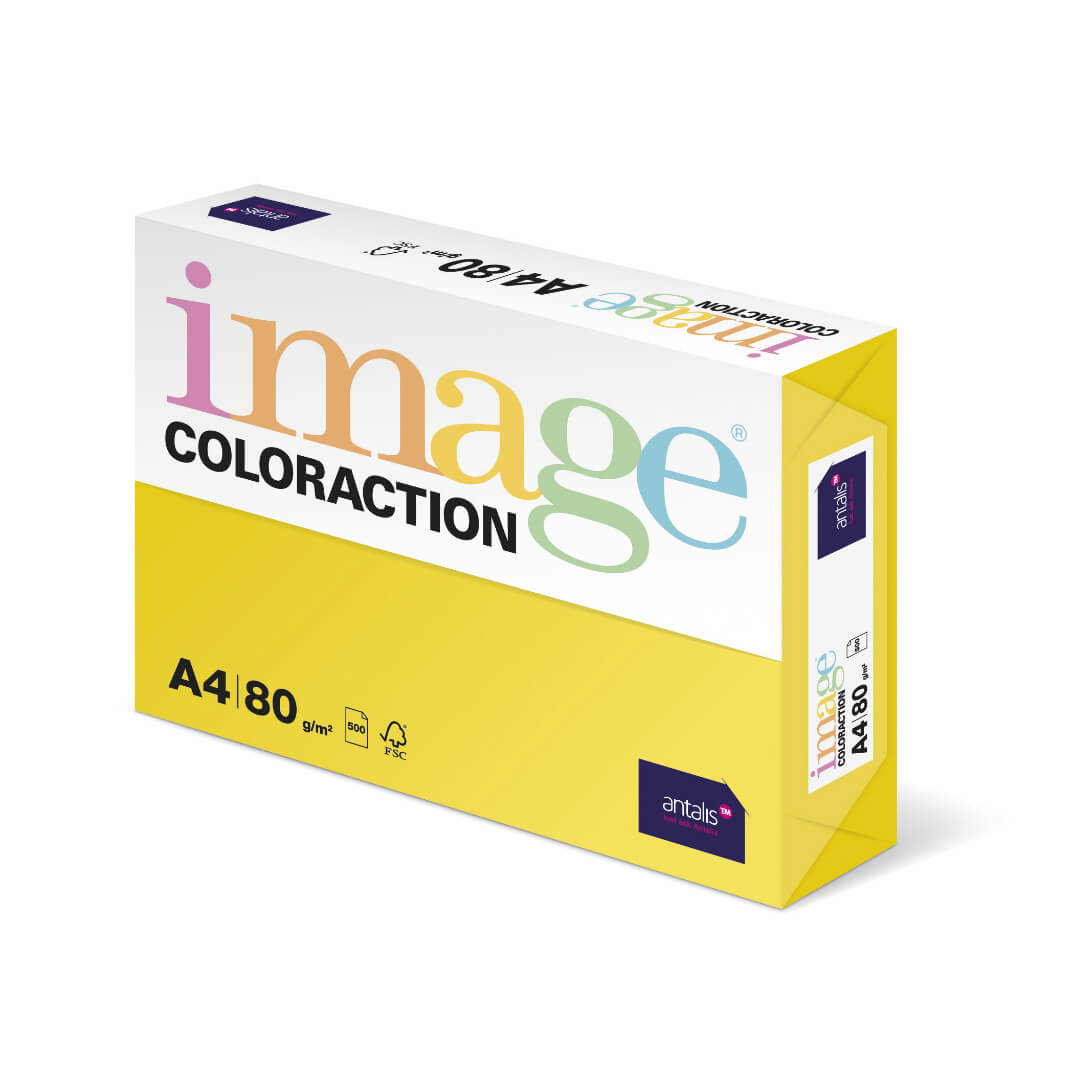 Paquete papel A4 80gr amarillo canary CY39